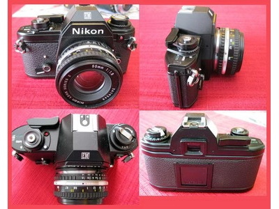 Nikon EM 35mm Film Camera w LOTS extras!